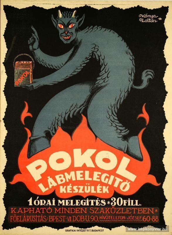 Kónya Zoltán - Pokol lábmelegító készülék, 1926