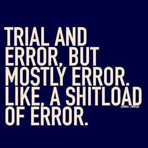 so much error