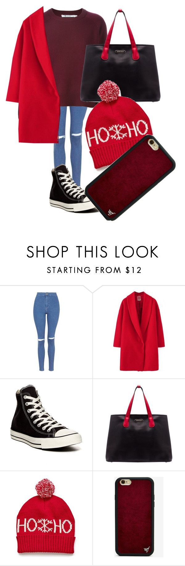 """""""Emma Ross- original outfit"""" by anitta-ball ❤ liked on Polyvore featuring Topshop, Converse and Wildflower"""