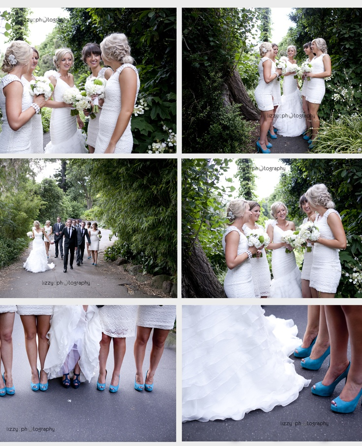 A Royal Melbourne Botanic Gardens Wedding.  Loved these girls with their gorgeous shoes!  Thanks Lizzy C for taking such great photos!