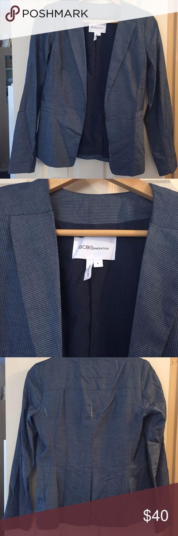 ✨SALE ✨ BCBGeneration Chambray Blazer BCBGeneration Chambray Blazer. Size 4. Worn 2x. BCBGeneration Jackets & Coats Blazers