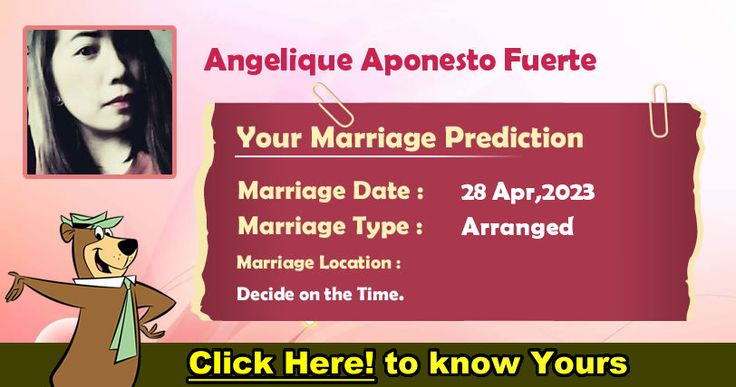 Your Marriage Prediction!