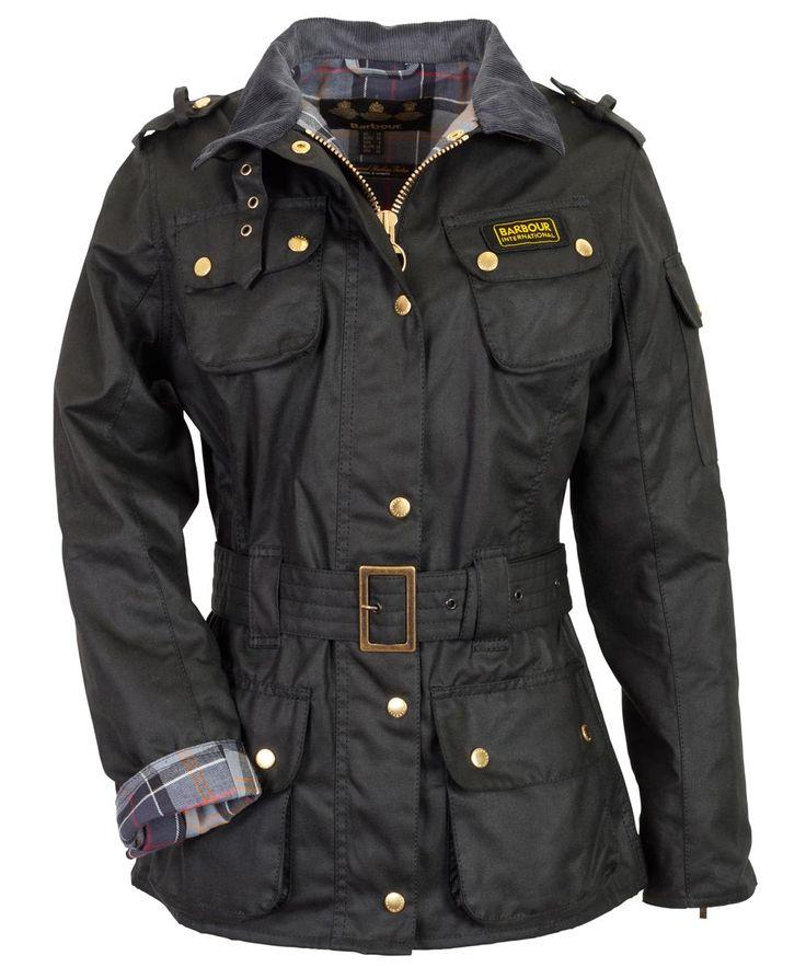 Barbour International Women's International Wax Jacket - Black LWX0003BK51…