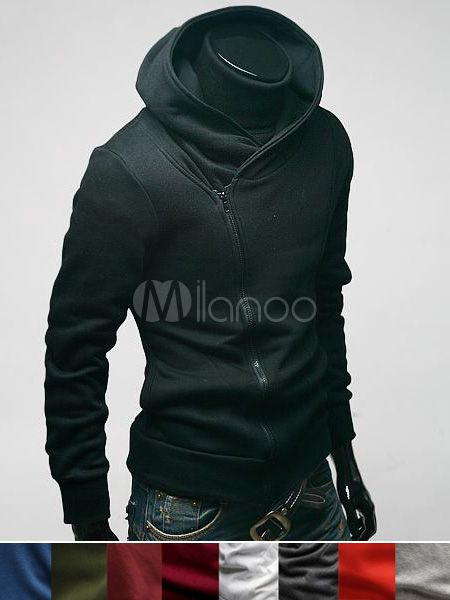 Neue Ankunft Casual Solid Color Baumwolle Herren Sweatshirt(9 colors) - Milanoo.com