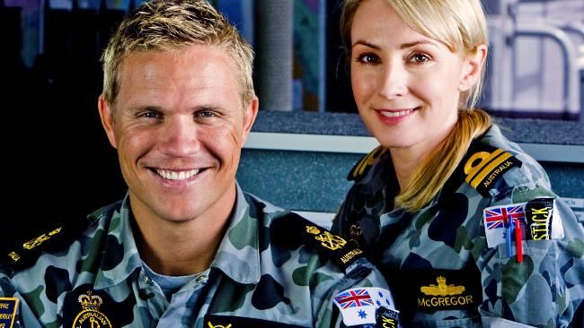 Conrad Coleby and Lisa McCune in Australian TV series, Sea Patrol, 2007-2011