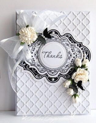 Sasha's Inspirations, Spellbinders Lattice, labels 20 ,tiny carnations and white rosebuds!