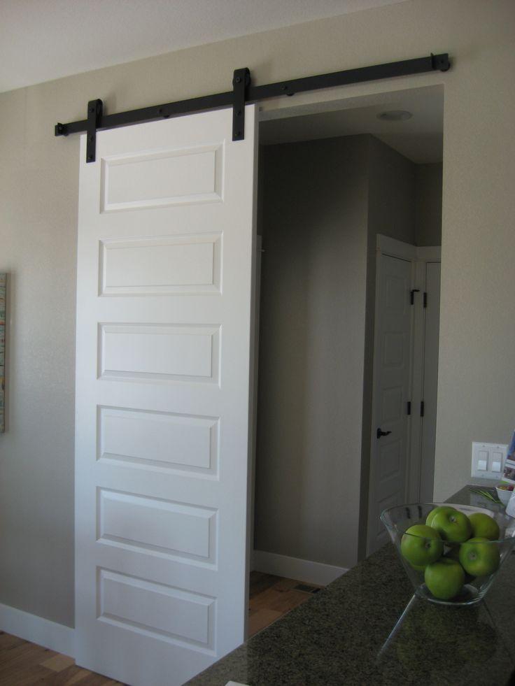 Barn door to mud room