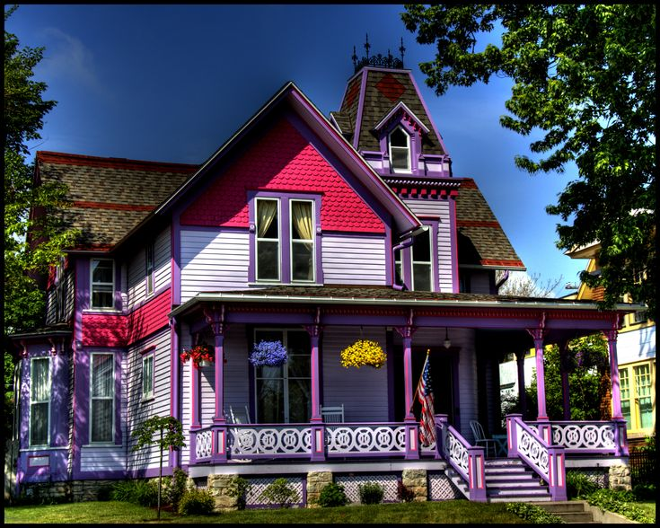 Best Painted Ladies Images On Pinterest Painted Ladies - Amazing house built across a river