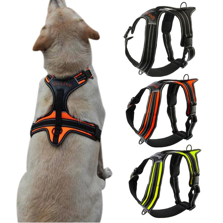 Nylon No-Pull Dog Harness Reflective Outdoor Adventure Pet Vest with Handle For Medium Large Dog Pitbull