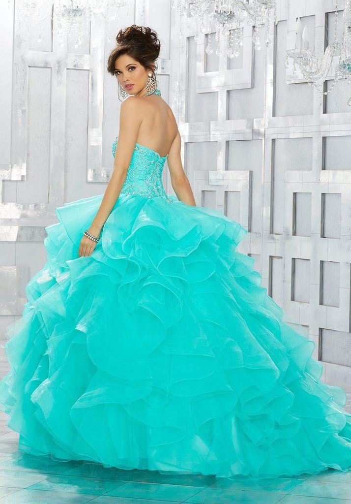 d0d4abb21a1 Beaded Halter Quinceanera Dress by Mori Lee Vizcaya 89144-Mori Lee Vizcaya-ABC  Fashion