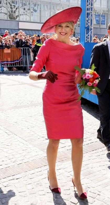 Le style de Maxima des Pays-Bas: en rose à Amsterdam