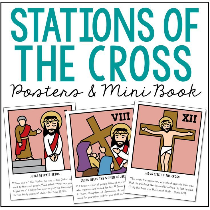 Stations Of The Cross Posters And Mini Book Holy Week Easter