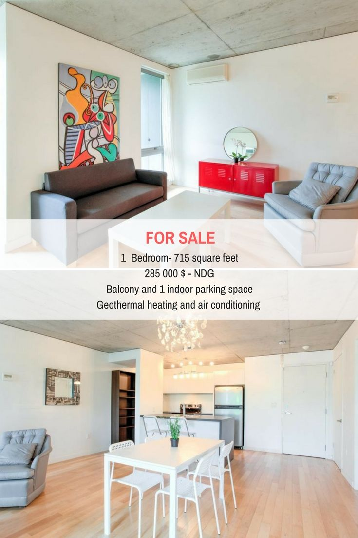 Nouveau prix pour ce beau condo d'une chambre à NDG! New price for this beautiful one bedroom condo in NDG! #NDG #Montreal #RealEstate #Condo #NewPrice #Resltors #Brokers #SuttonQuebec