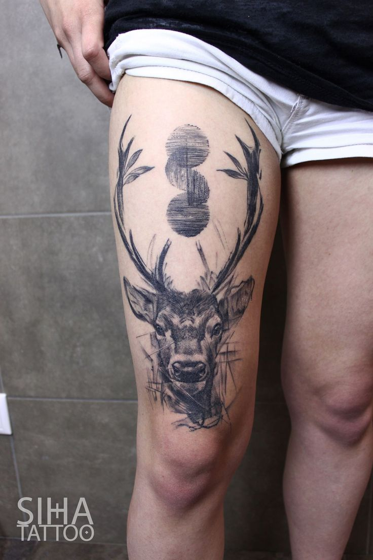 Deer Tattoo by Mocho at Siha Tattoo Barcelona