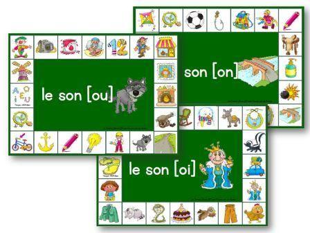 11 planches du jeu des phonèmes à retrouver avec des pinces à linge : l'enfant doit chercher les images qui contiennent le phonème et y accroche une pince.