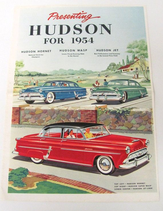 1954 Hudson Hornet Four-Door Sedan, Hudson Super Wasp Club Sedan, and Hudson Jet-Liner Club Sedan