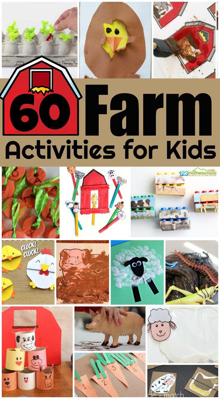 60 FUN Farm Activities for Kids Animal activities for
