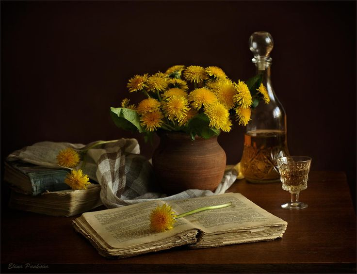 Dandelion wine by Elena Pankova on