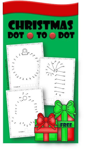 FREE Christmas Dot to Dot Printables - These free Christmas printables are a fun way for preschool, prek, and kindergarten age kids to practice counting from 1-50 during December.