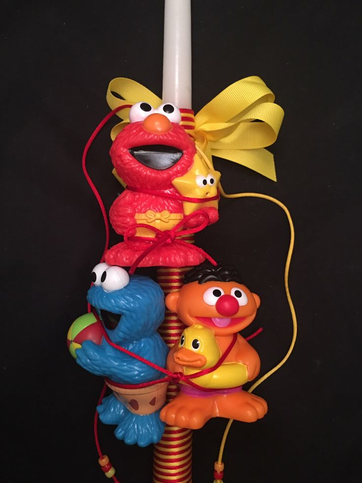 A personal favorite from my Etsy shop https://www.etsy.com/listing/272100140/sesame-street-elmo-cookie-monster-ernie