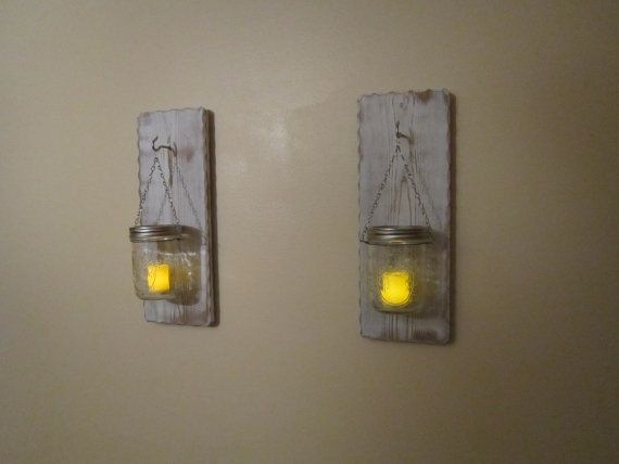 Rustic Candle Wall Sconces Holders By BriarRidgeCreation