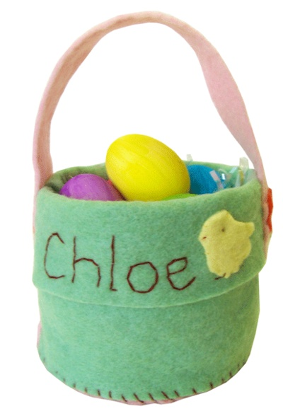 95 best easter gifts for kids hostesses images on pinterest this personalized wool felt easter basket is personalized and perfect for you egg hunt light negle Gallery