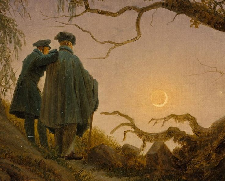'Two men contemplating the moon', Caspar David Friedrich
