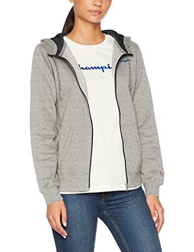 45d35a4c89b8 Champion Hooded Full Zip Sweatshirt-Institutionals Sweat-Shirt àCapuche  Femme