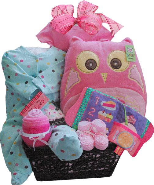 40 best baby gift baskets toronto images on pinterest baby gift sweet cupcake baby gift basket with owl pillow toronto negle Gallery