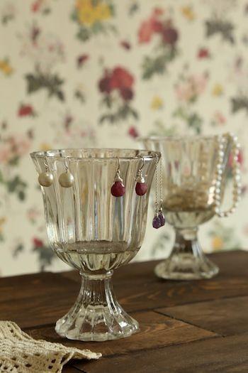 「100円ぽってりグラスをアクセサリー収納に*」の画像|N's Color Style* |Ameba (アメーバ)
