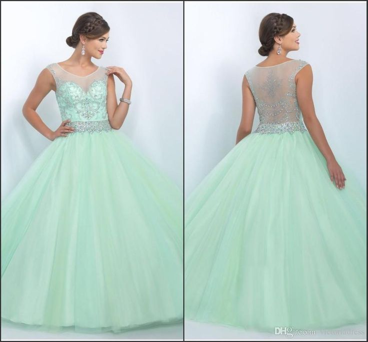 Mint Gorgeous Rhinestones Quinceanera Dresses Tulle Sweet 16 Prom Party Dresses | eBay