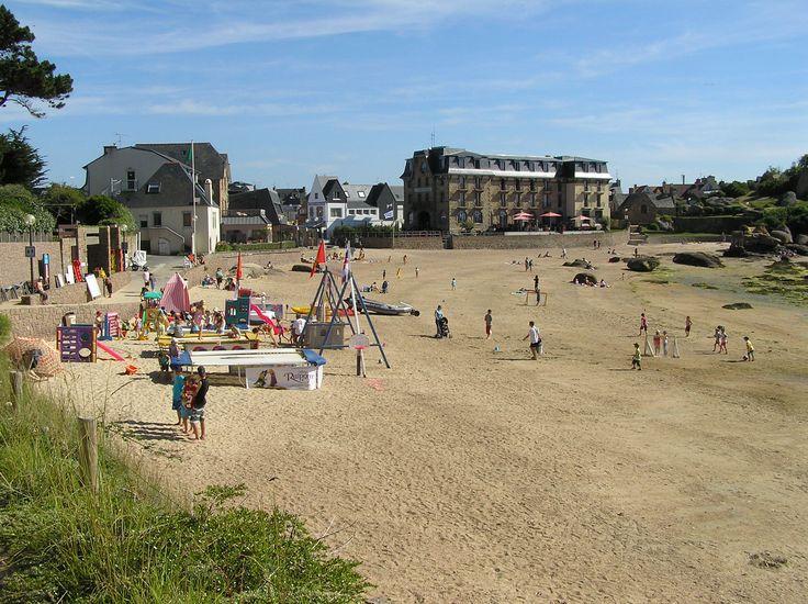 la plage de st Guirec à Ploumanac'h