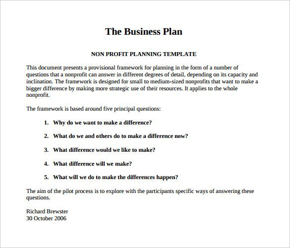 How To Write A Business Plan Pdf  Opinion Of Professionals