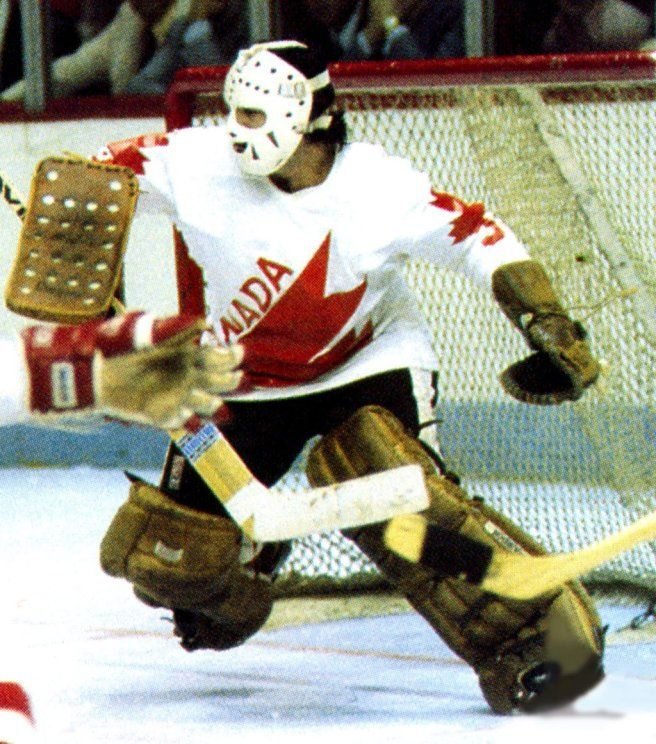 Rogie Vachon, standout for Canada at 1976 Canada Cup.
