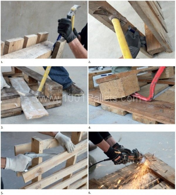 Some of our readers asked us how to dismantle a pallet, you will find on this post some explanations and a DIY video at the end! Dismantling a wooden pallet
