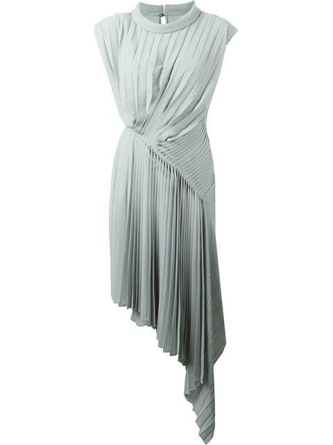 Maison Margiela Pleated Asymmetric Midi Dress - Coltorti - Farfetch.com