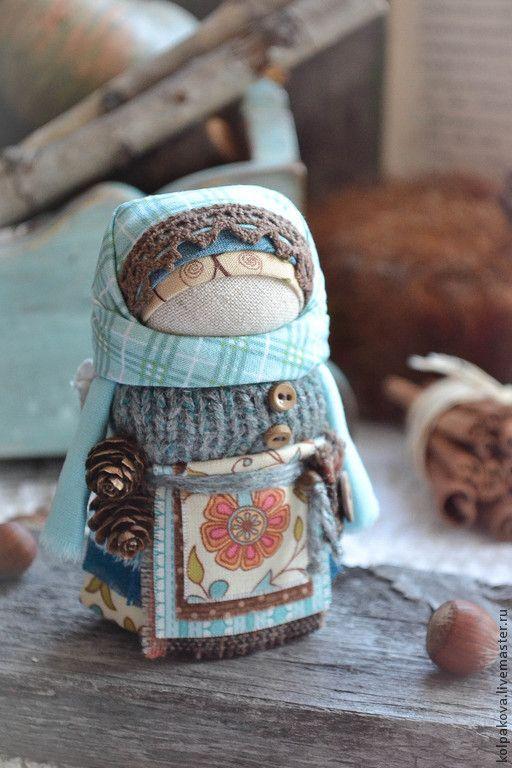 "куколка"" Ангел тёплого Ноября"". - бирюзовый,куколка-ангел,кукольная миниатюра"