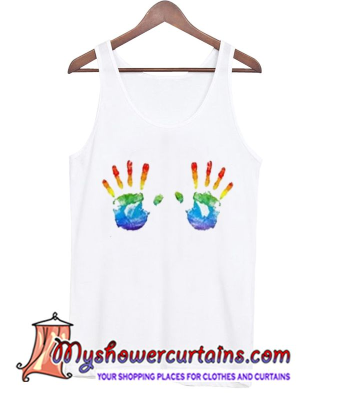 About Rainbow Hand Tanktop from myshowercurtains.com This Dream catcher tanktop is Made To Order, we print the one by one so we can control the quality.