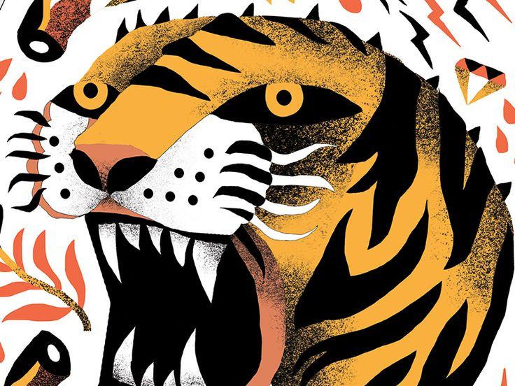 Working on a snowboard design. I was asked to use my Tiger illustration, as well as create some new surrounding images. Looking forward to showing off more of this design soon.