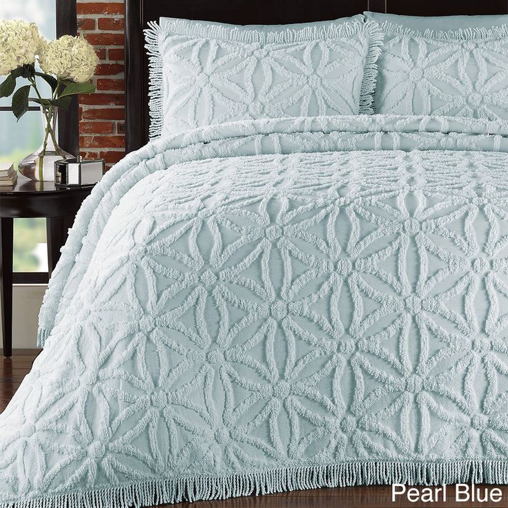Arianna Chenille 3-piece Bedspread Set | Overstock.com Shopping - The Best Deals on Bedspreads
