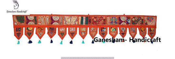 Indian Patchwork Window Wall Hanging Boho Decor Bohemian Vintage Door Valance 80 #Handmade #Asian #Valance