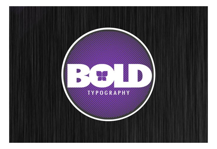 BOLD: reminder to make the logo STAND OUT!/eye-catching!  Bold Typography by Envy07.deviantart.com