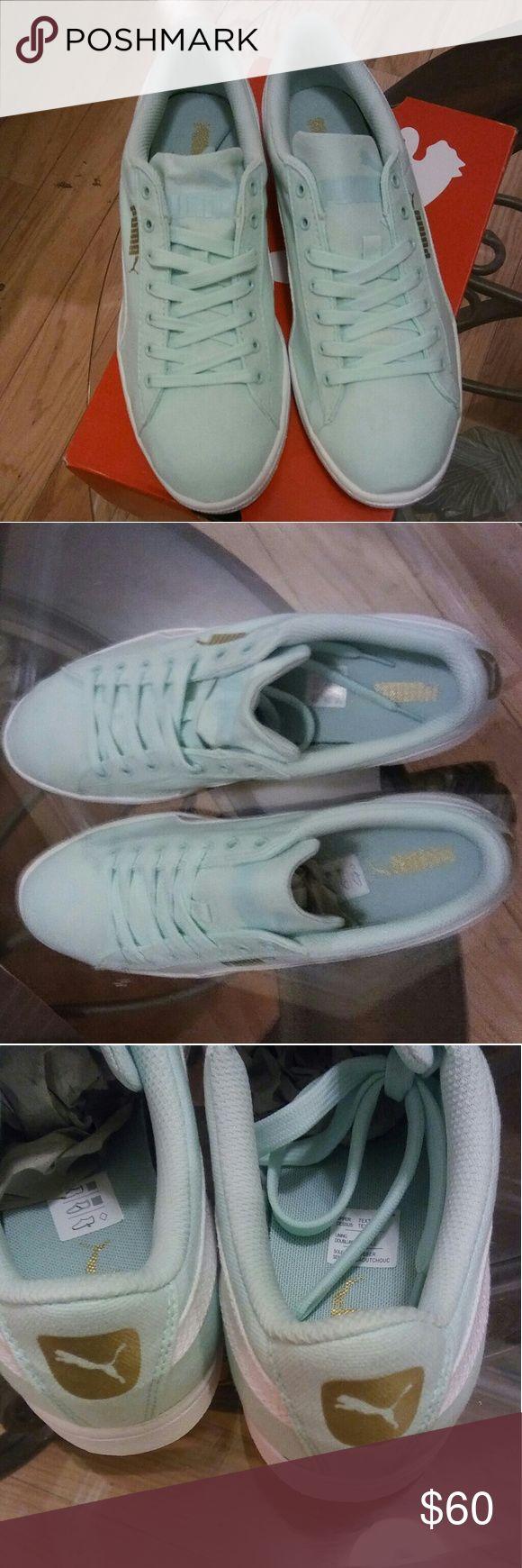 Puma Tennis Shoe Mint Green Puma Puma Shoes Athletic Shoes