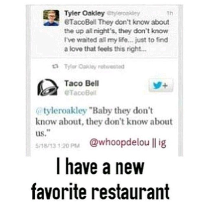 Tyler Oakley And Taco Bell Love One Direction One Direction Humor One Direction What Makes You Beautiful
