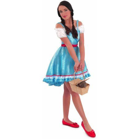 The Wizard of Oz Dorothy Women's Adult Halloween Costume, Size: Small, Blue