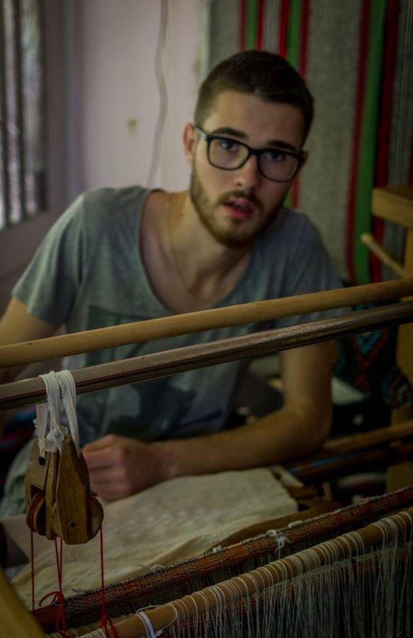 Woven Hemp Cloth Small Organic Table Runner Handwoven by VladimirFolkage