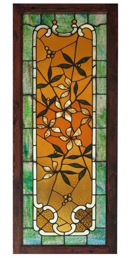 Antique Stained Glass Window - Wooden Nickel Antiques, Cincinnati Ohio