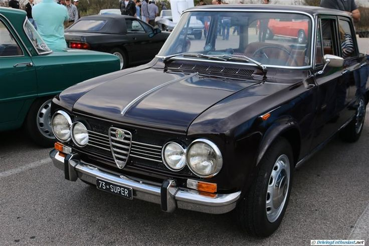 Alfa Romeo Guilia Super. As seen at the December 2014 cars and Coffee event in Austin TX USA.