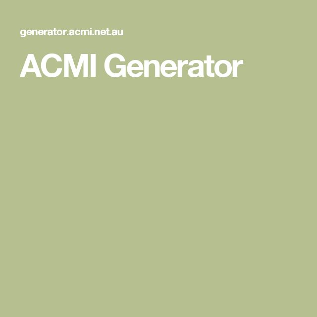ACMI Generator