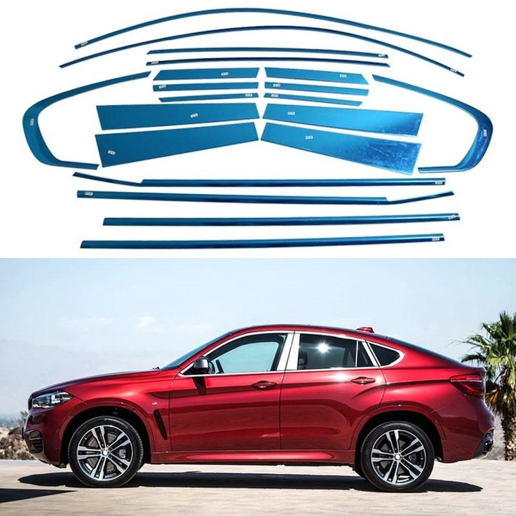 20/10Pcs/Set Stainless Steel Full Window Trim Decoration Strips Auto Trim For BMW X6 2010 2011 2012 2013 2014 2015 Car Styling